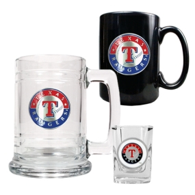 Texas Rangers 15oz Tankard, 15oz Ceramic Mug & 2oz Shot Glass Set