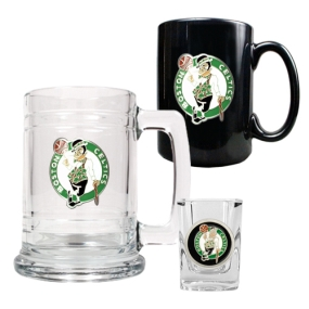 Boston Celtics 15oz Tankard, 15oz Ceramic Mug & 2oz Shot Glass Set