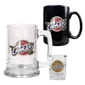 Cleveland Cavaliers 15oz Tankard, 15oz Ceramic Mug & 2oz Shot Glass Set