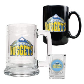 Denver Nuggets 15oz Tankard, 15oz Ceramic Mug & 2oz Shot Glass Set