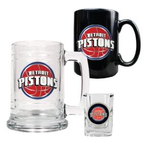 Detroit Pistons 15oz Tankard, 15oz Ceramic Mug & 2oz Shot Glass Set