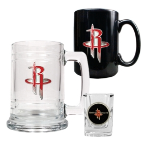 Houston Rockets 15oz Tankard, 15oz Ceramic Mug & 2oz Shot Glass Set