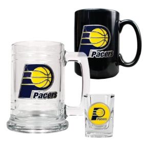 Indiana Pacers 15oz Tankard, 15oz Ceramic Mug & 2oz Shot Glass Set