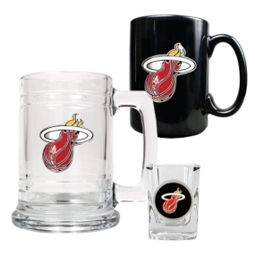 Miami Heat 15oz Tankard, 15oz Ceramic Mug & 2oz Shot Glass Set