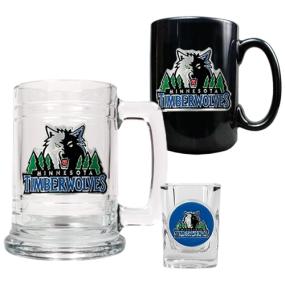 Minnesota Timberwolves 15oz Tankard, 15oz Ceramic Mug & 2oz Shot Glass Set