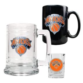 New York Knicks 15oz Tankard, 15oz Ceramic Mug & 2oz Shot Glass Set