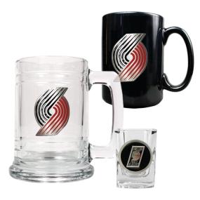 Portland Trailblazers 15oz Tankard, 15oz Ceramic Mug & 2oz Shot Glass Set