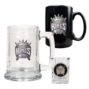 Sacramento Kings 15oz Tankard, 15oz Ceramic Mug & 2oz Shot Glass Set