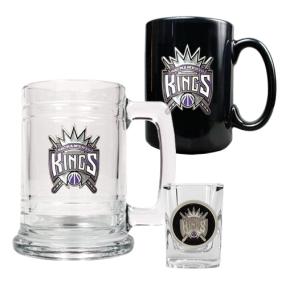 Sacramento Kings 15oz Tankard, 15oz Ceramic Mug & 2oz Shot Glass Set