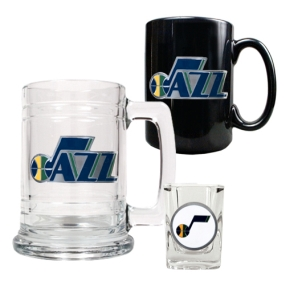 Utah Jazz 15oz Tankard, 15oz Ceramic Mug & 2oz Shot Glass Set