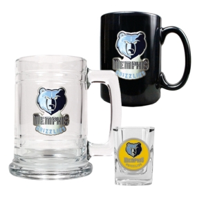 Memphis Grizzlies 15oz Tankard, 15oz Ceramic Mug & 2oz Shot Glass Set