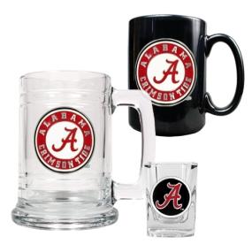 Alabama Crimson Tide 15oz Tankard, 15oz Ceramic Mug & 2oz Shot Glass Set