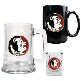 Florida State Seminoles 15oz Tankard, 15oz Ceramic Mug & 2oz Shot Glass Set