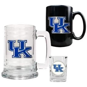 Kentucky Wildcats 15oz Tankard, 15oz Ceramic Mug & 2oz Shot Glass Set