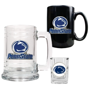 Penn State Nittany Lions 15oz Tankard, 15oz Ceramic Mug & 2oz Shot Glass Set