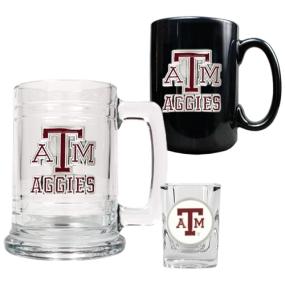 Texas A&M Aggies 15oz Tankard, 15oz Ceramic Mug & 2oz Shot Glass Set