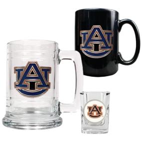 Auburn Tigers 15oz Tankard, 15oz Ceramic Mug & 2oz Shot Glass Set