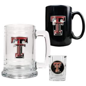 Texas Tech Red Raiders 15oz Tankard, 15oz Ceramic Mug & 2oz Shot Glass Set