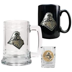 Purdue Boilermakers 15oz Tankard, 15oz Ceramic Mug & 2oz Shot Glass Set