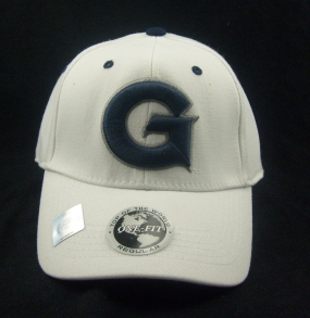 Georgetown Hoyas White One Fit Hat