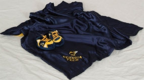 Georgia Tech Yellow Jackets Baby Blanket and Slippers