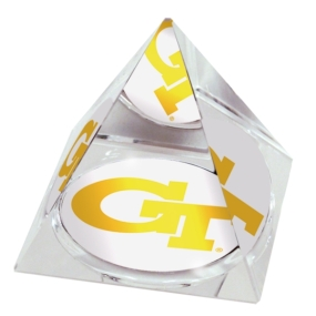 Georgia Tech Yellow Jackets Crystal Pyramid