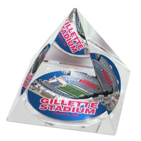 New England Patriots Crystal Pyramid