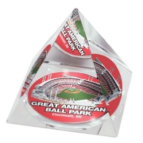 Cincinnati Reds Crystal Pyramid