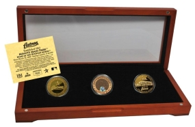 HOUSTON ASTROS 24kt Gold and Infield Dirt 3 Coin Set