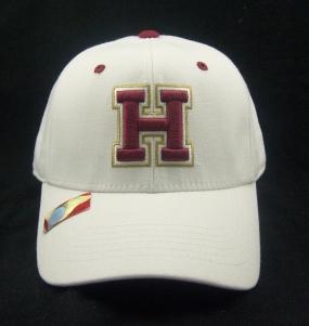 Harvard Crimson White One Fit Hat