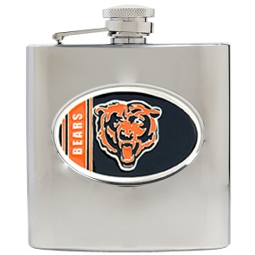 Chicago Bears 6oz Stainless Steel Hip Flask