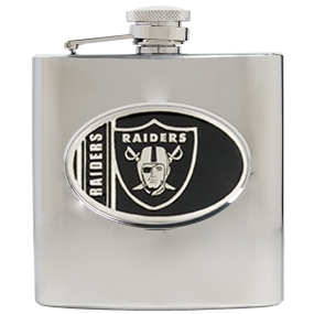 Oakland Raiders 6oz Stainless Steel Hip Flask