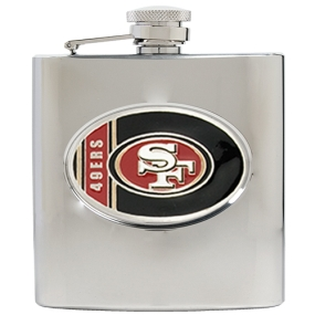 San Francisco 49ers 6oz Stainless Steel Hip Flask