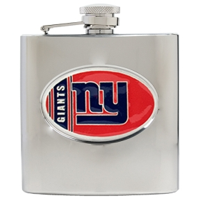 New York Giants 6oz Stainless Steel Hip Flask