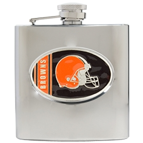 Cleveland Browns 6oz Stainless Steel Hip Flask