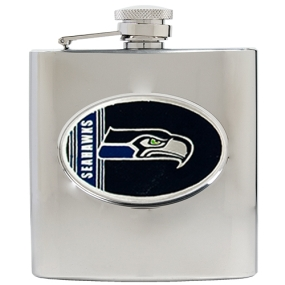 Seattle Seahawks 6oz Stainless Steel Hip Flask