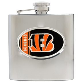 Cincinnati Bengals 6oz Stainless Steel Hip Flask