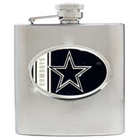 Dallas Cowboys 6oz Stainless Steel Hip Flask