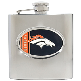 Denver Broncos 6oz Stainless Steel Hip Flask