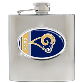 Saint Louis Rams 6oz Stainless Steel Hip Flask