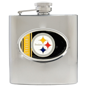 Pittsburgh Steelers 6oz Stainless Steel Hip Flask