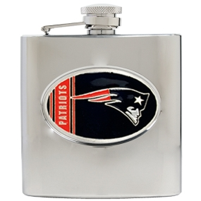 New England Patriots 6oz Stainless Steel Hip Flask