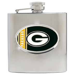 Green Bay Packers 6oz Stainless Steel Hip Flask