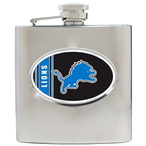 Detroit Lions 6oz Stainless Steel Hip Flask