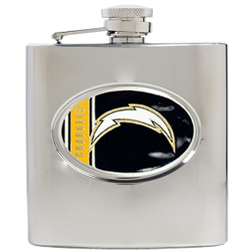 San Diego Chargers 6oz Stainless Steel Hip Flask