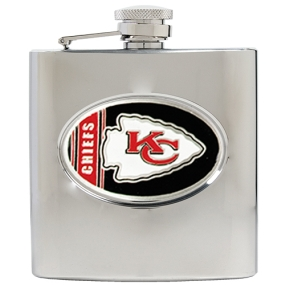 Kansas City Chiefs 6oz Stainless Steel Hip Flask