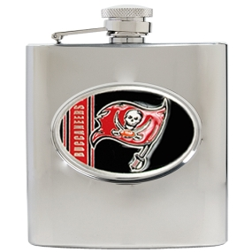 Tampa Bay Buccaneers 6oz Stainless Steel Hip Flask