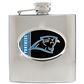 Carolina Panthers 6oz Stainless Steel Hip Flask