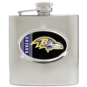 Baltimore Ravens 6oz Stainless Steel Hip Flask
