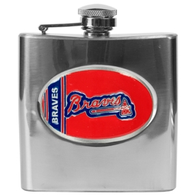 Atlanta Braves 6oz Stainless Steel Flask